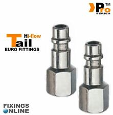 2 x 1/4''Euro Tail ( Hi Flow ) Female - Quick Release - Air Line Fittings   05