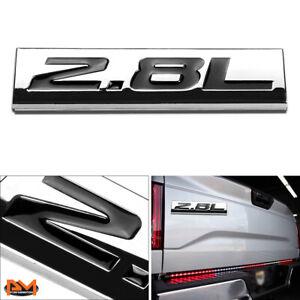 """""""2.8L"""" Polished Metal 3D Decal Black Emblem Exterior Sticker For Volkswagen/Saab"""