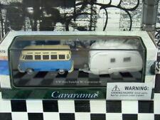 NUEVO Cararama 2 unidades set Volkswagen Bus Samba con / Caravana II 1:72 Escala