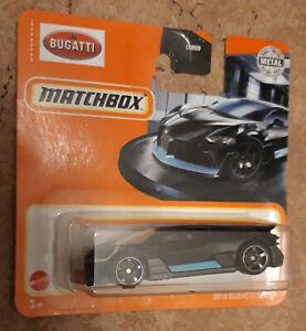 Matchbox  Bugatti Divo black short card