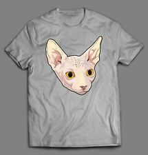 Sphynx Cat High Quality Oldskool Custom Art Shirt *Many Size Options