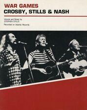 "CROSBY, STILLS & NASH ""WAR GAMES"" SHEET MUSIC-1983-RARE-BRAND NEW-MINT CONDITION"
