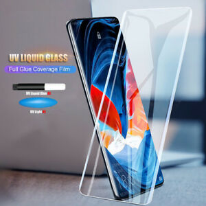 For OnePlus 7T Pro UV Glue Nano Optics 9H Curved Tempered Glass Screen Protector