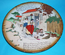 Antique Burgess & Leigh Burleigh Ware Pottery - Display Plate The Leather Bottel