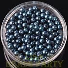 New 50pcs 6mm Round Glass Pearl Loose Spacer Beads Jewelry Making Purplish Blue