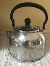 FARBERWARE Stainless Teapot Kettle Stove-Top CQQ01 with Glass Lid