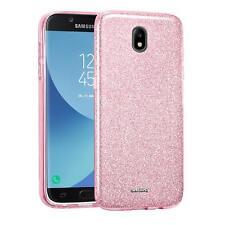 Handy Hülle Samsung Galaxy J3 2017 J330 Schutz Silikon Cover Glitzer Slim Case