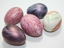Vintage Collectible Ceramic Set of 5 Easter Eggs Egg Pink Purple