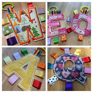 Baby/Child Taggy Letter Toy, Pram, Highchair, Carseat, Nursery, Girl/Boy, Gift