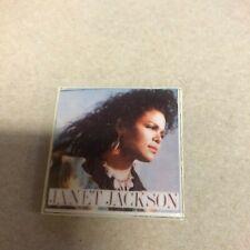 Janet Jackson Vintage 80's Badge Button Pinback Pin 405 Promo Concert Retro