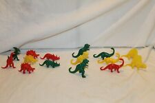 "Vintage Mpc Dinosaurs 2.5"" Tall 15pcs Stegasauros Brontosaurus Triceratops Trex"