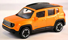 Jeep Renegade Mini SUV 2014-18 Orange Metallic 1:43 Bburago
