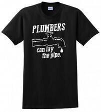 PLUMBER LAY THE PIPE UNION MADE AMERICAN USA MENS FUNNY T-SHIRT