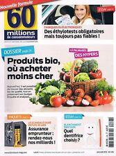 60 Millions De Consommateurs   N°478    Jan 2013 Produitss Bio Ou Acheter Moins