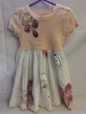 **VERY Pretty Dress by Baln - Peach & White Floral Design & Beads Age 5 FREE P&P