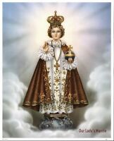 "8 1/4"" x 10 1/4"" Catholic Art Print INFANT JESUS OF PRAGUE Printed in Germany"