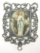 Extra LARGE Silver Rosary Center Part | Our Lady of Fatima | Rosary Parts