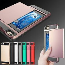 Shockproof Wallet Credit Card Holder Case Cover for Apple iPhone 6 6S 7 Plus GB
