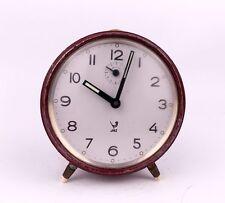 Vintage 1950s JAZ FRANCE Chrome Alarm clock Retro Old Desk table watch decor