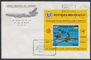 Paraguay FDC Block 226 Aircraft DC-10 With Sst 1974, First Day Cover