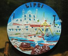 Holiday in Lipsi Island, Greece, Tourist Travel Souvenir 3D Resin Fridge Magnet