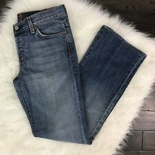 7 For All Mankind Size 28 Jeans Boycut Button Fly Medium Wash