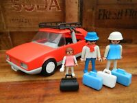 Playmobil 3139 Red Car with Roof Rack - Vintage 1986
