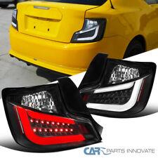 For 11-13 Scion tC All Black LED DRL Tail Lights Reverse Brake Lamps Pair