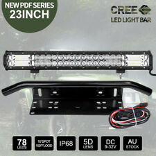 23inch CREE LED Light Bar SPOT FLOOD Work Driving Bars & 23'' Number Plate Frame