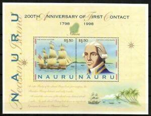 Nauru Stamp - Captain John Fearn and ship Snow Hunter Stamp - NH