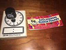New Educational Rubber Stamp Clock Face from Center Enterprises