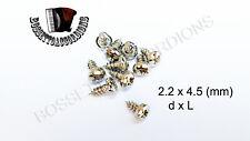 SET OF 10 Accordion Screws Phillips Pan Size 2.2 x 4.5 mm Parts
