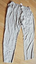COTTON TRADERS ELASTICATED WAIST CASUAL TROUSERS, PEBBLE COLOUR,  SIZE 22 BNWT