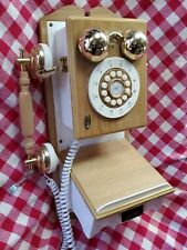 Thomas Collectors Edition Vintage White Wall Phone FARMHOUSE Country