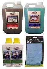WASH TFR 5L / CHERRY SNOWFOAM 5L / 2 x 500ml Alloy Cleaner & Cloth VALETING KIT