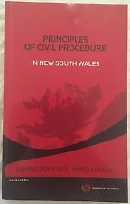 Principles of Civil Procedure in New South Wales NSW by D Boniface and M Kumar