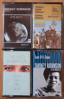4x SMOKEY ROBINSON CASSETTE TAPES LOT - DEEP IN MY SOUL / SMOKEY SOUL MOTOWN ETC