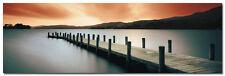 "Coniston Water Jetty Lake Art Large Wall Silk Poster 24x75"" Scenery Nature 001"