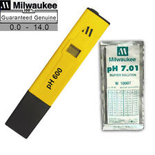 pH 600 Milwaukee Digital pH600 0-14 Meter/Tester/Pocket/Pen w/ 7.01 Sol. Packet