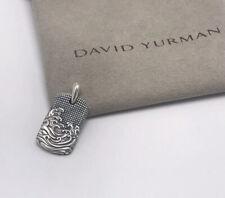 David Yurman Men's Waves Sterling Silver Dog Tag (26mmx15mm)