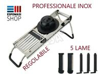 AFFETTAVERDURE MANDOLINA CON 5 LAME PROFESSIONALE ILSA ITALY ACCIAIO INOX 18/10