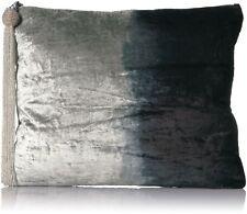Steve Madden NEW $78 Gray Black Ombre Crush Velvet Jasmine Pouch Clutch Tassel X