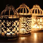 Metal Hollow Candle Holder Candlestick Hanging Lantern Bird Cage Wedding Decor