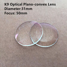 31mm K9 Optical Glass Convex Lens 50mm Focus Plano-convex Lens for Experiment 2p