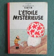 HERGE -  TINTIN L ETOILE MYSTERIEUSE - 1955  DOS ROUGE