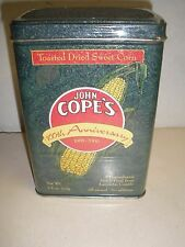 NEW Vintage John Cope's 100th Anniversary tin 7.5 oz toasted dried sweet corn