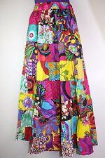 Gypsy Patchwork Hippie Bohemian Festival Cotton Skirt Dress Handmade Nepal S11