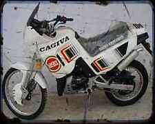 Cagiva Elefant 125 90 A4 Metal Sign Motorbike Vintage Aged