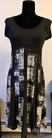 Dzhavael Couture, Black Dress with print, small size