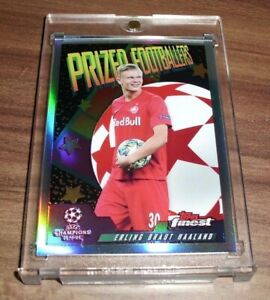 2019-20 Topps Finest Erling Braut Haaland Prized Footballers SP Rookie RC 📈🔥